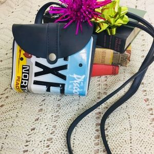 Little Earth Recycled License Plate Bag Rare
